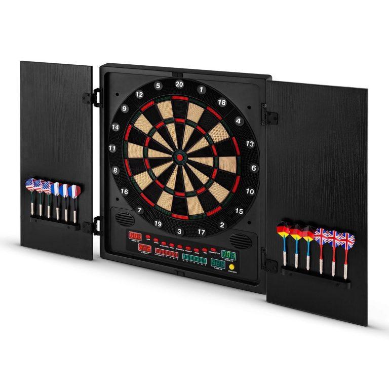 Bersaglio Elettronico 12 Freccette Tiro a Segno Indicatore LED Multi Colore
